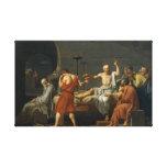 La muerte de Sócrates Impresión En Lienzo Estirada