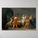 La muerte de Sócrates - Jacques-Louis David Póster