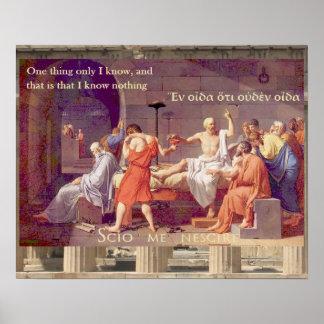 La muerte de Sócrates - no sé nada Póster