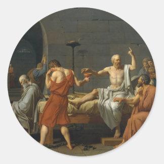 La muerte de Sócrates Etiqueta Redonda