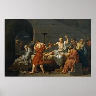La muerte de Sócrates Póster