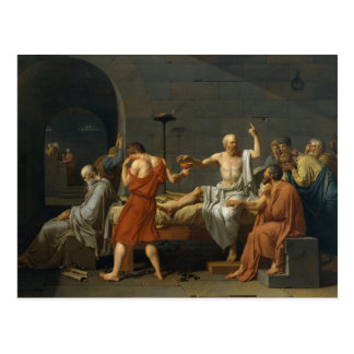 La muerte de Sócrates Tarjetas Postales