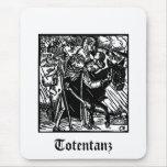 La muerte de Totentanz escolta un mousepad de la m Tapetes De Ratones
