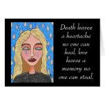 La muerte deja una angustia… - tarjeta de condolen