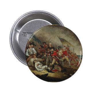 La muerte del Bunker Hill de general Warren At Pin Redondo De 2 Pulgadas