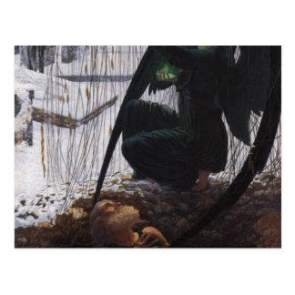 la muerte del cavador grave tarjeta postal