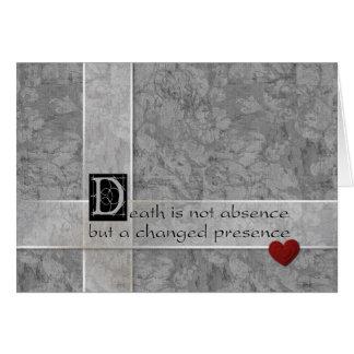 La muerte no es ausencia tarjeta de felicitación