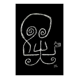 "La ""muerte odia Goodbyes"" (negro) - poster"