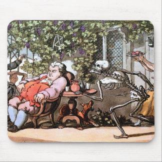 La muerte toma un cojín de ratón del almuerzo alfombrillas de ratón