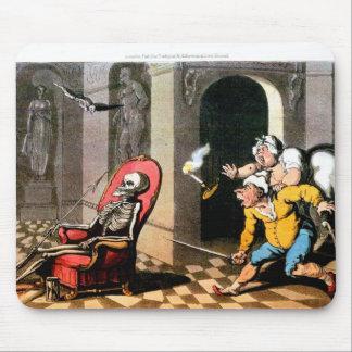 La muerte visita mediados del cojín de ratón de la alfombrilla de ratón