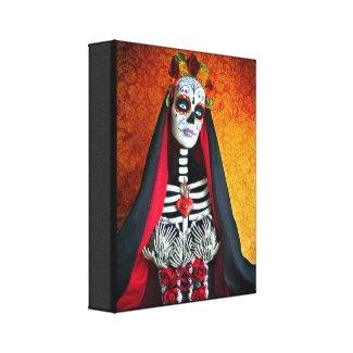 La Muerte Wrapped Canvas Stretched Canvas Print