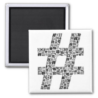 La muestra de número imán cuadrado