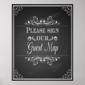 """la """"muestra del boda para """"firma por favor nuestro póster"""