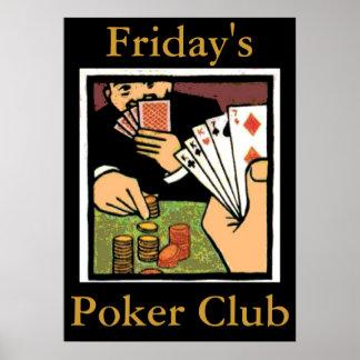 La muestra del club del póker, corrige el texto póster
