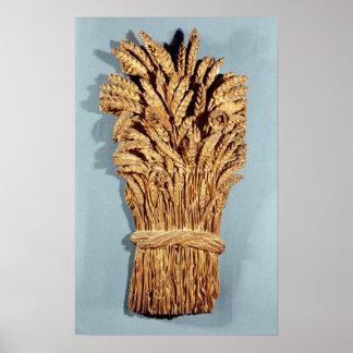 La muestra del panadero con los oídos del trigo y  póster