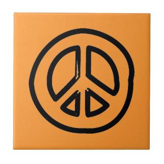 la MUESTRA del SÍMBOLO de PAZ peace801 CAUSA DRACM Tejas Cerámicas