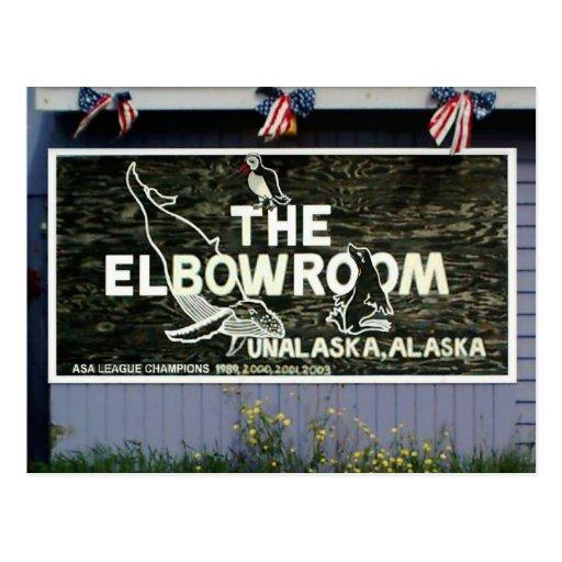 La muestra del sitio de codo, isla de Unalaska Tarjeta Postal