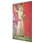 La mujer asustada, pared del norte lona estirada galerías