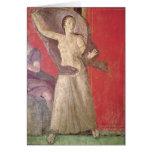 La mujer asustada, pared del norte tarjeta de felicitación