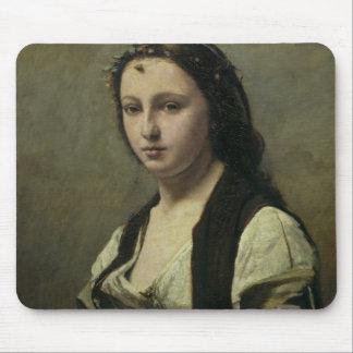 La mujer con la perla, c.1842 alfombrilla de ratones