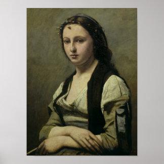 La mujer con la perla c 1842 posters