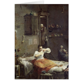 La mujer con la pulga tarjeta de felicitación