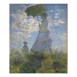 La mujer de Claude Monet con un parasol Fotografías