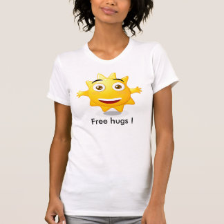 ¡La mujer de la camiseta libera abrazos! Playeras