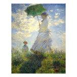 La mujer de Monet con un parasol (el paseo/el pase Tarjeton