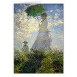 La mujer de Monet con un parasol (el paseo/el pase Tarjeta