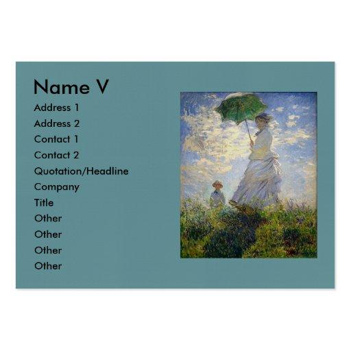 La mujer de Monet con un parasol (el paseo/el pase Plantillas De Tarjetas De Visita