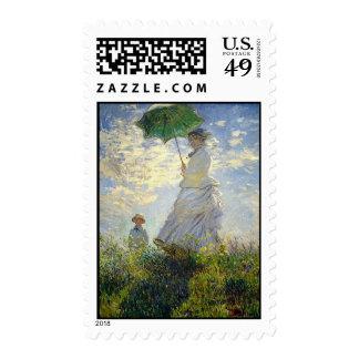 La mujer de Monet con un parasol (el paseo/el Sello