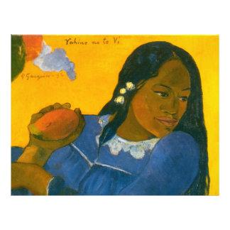 """La mujer de Paul Gauguin con un mango (1892) Folleto 8.5"""" X 11"""""""