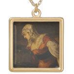 La mujer de Samaria en bien, c.1560 (aceite en c Pendientes Personalizados