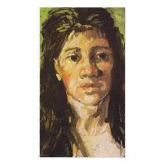 La mujer de Van Gogh el | con su pelo suelta Tarjetas De Visita