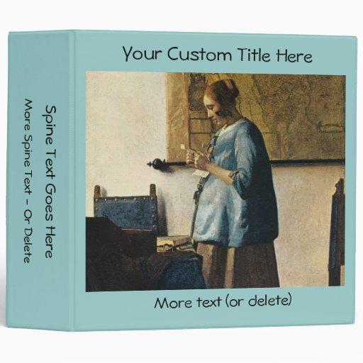 La mujer de Vermeer en azul que lee una letra ca.1