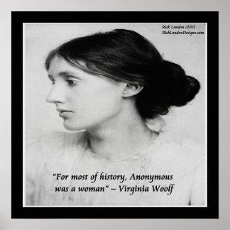 La mujer de Virginia Woolf era poster anónimo de l