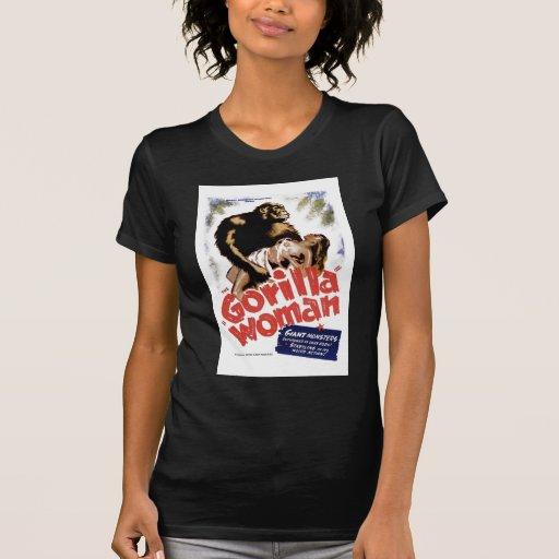La mujer del gorila camisetas