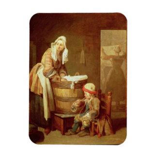 La mujer del lavadero imanes de vinilo