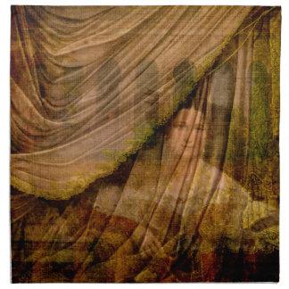 La mujer detrás de la cortina servilleta