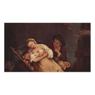 La mujer durmiente de Pietro Longhi Tarjetas De Visita