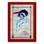 La mujer elegante, Año Nuevo desea el vintage 1915 Felicitacion