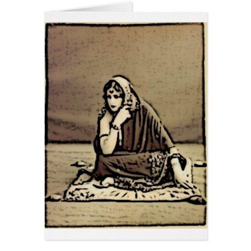 La mujer espiritual tarjeta de felicitación