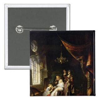 La mujer hidrópica, c.1663 pin cuadrada 5 cm