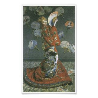 La mujer japonesa de Claude Monet Cojinete