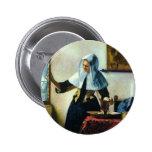 La mujer joven de Vermeer con una jarra Ca 1665 de Pin