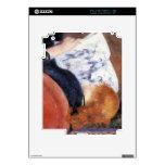 La mujer joven lee el diario ilustrado por Renoir Skin Para El iPad 2