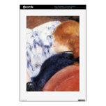 La mujer joven lee el diario ilustrado por Renoir Consola PS3 Skin