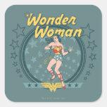La Mujer Maravilla apenó diseño de la estrella Calcomanías Cuadradass Personalizadas