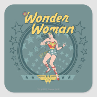 La Mujer Maravilla apenó diseño de la estrella Calcomanías Cuadradases